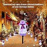 Christmas Decorations Snowman Landscape Path Lights