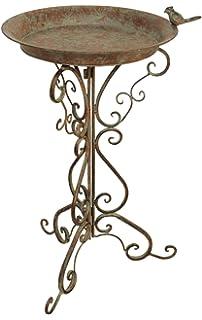 Dekorative große Vogeltränke Gusseisen Bronze massiv 11kg Vogelbad Futterstation