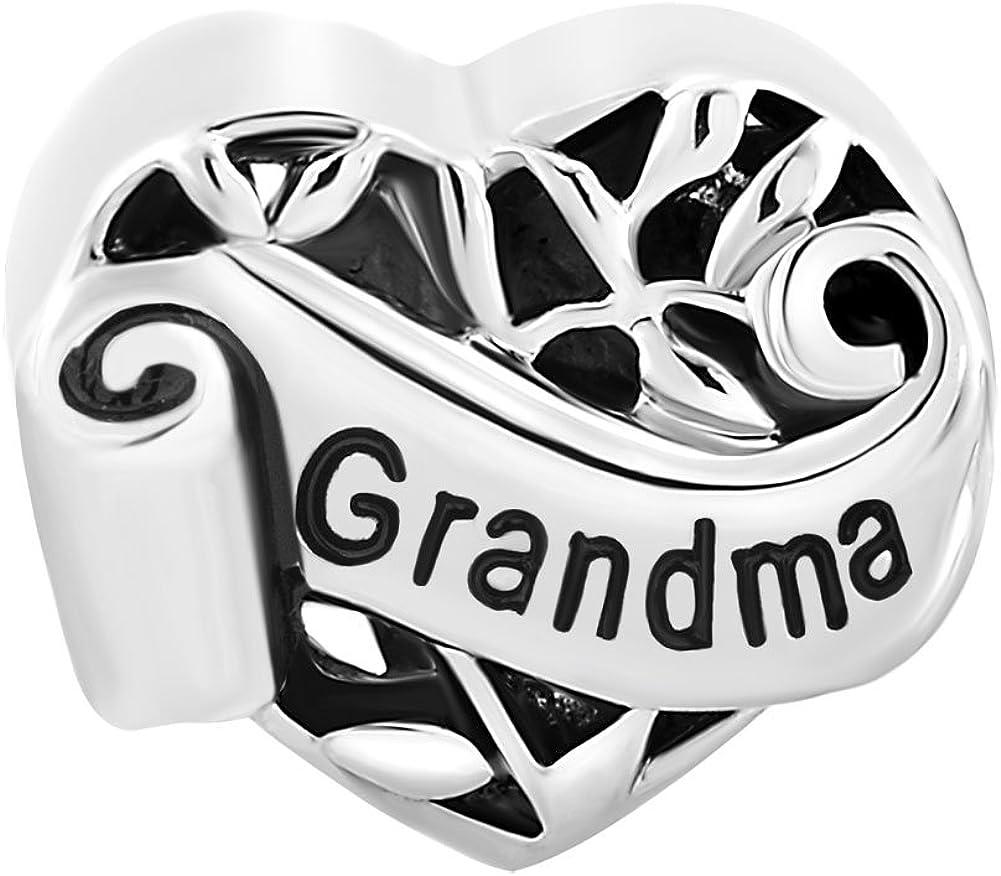 Pour bracelet Breloque Korliya En forme de c/œur et darbre de vie