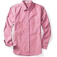 OCHENTA Men's Long Sleeve Button Down Casual Dress Oxford Shirt