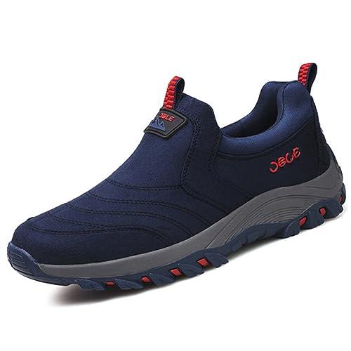 Gracosy Zapatillas Hombre Deportiva Zapatos de Trekking Para de Senderismo de Deporte Bajo de Montaña de