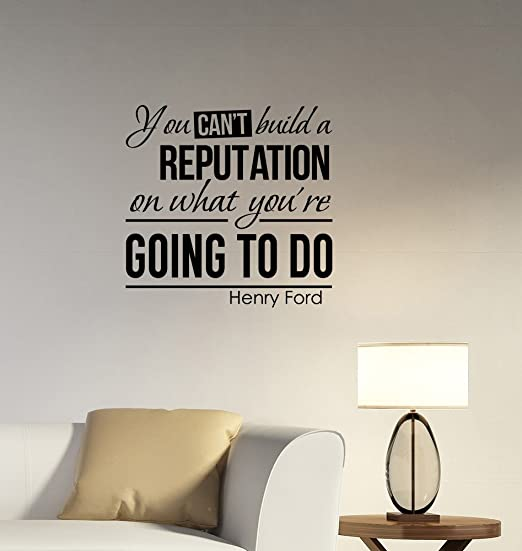 Henry Ford Quote Inspirational Wall Decal Home Decor Typography 30 x 16 inches