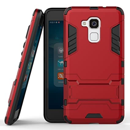 cheap for discount 2b6af f3eee Huawei Honor 5c Case, Honor 7 Lite Cover, Dual Layer Protection Shockproof  Hybrid Rugged Case Hard Shell Cover with Kickstand for 5.2'' Huawei Honor  ...