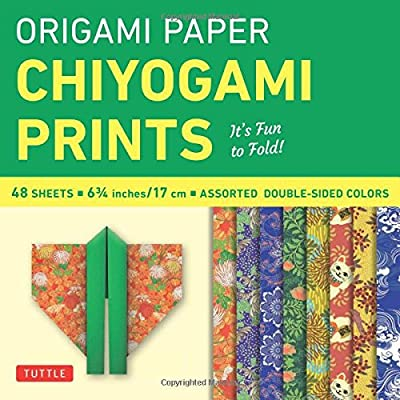 """Origami Paper - Chiyogami Prints - 6 3/4"""" - 48 Sheets: (Tuttle Origami Paper)"""
