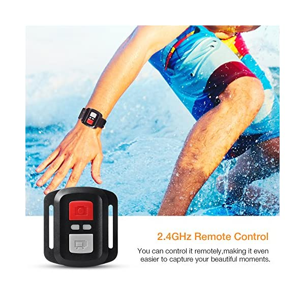 APEMAN Action Cam A77, 4K 20MP Wi-Fi Impermeabile 30M con Telecomando Fotocamera Subacquea Digitale, Hyper… 4 spesavip