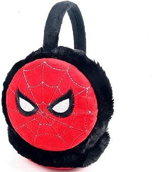 IUTOYYE Boys Superhero Earmuffs Soft Plush Padded Knitted Design Earwarmer Kids Winter Ear Muffs