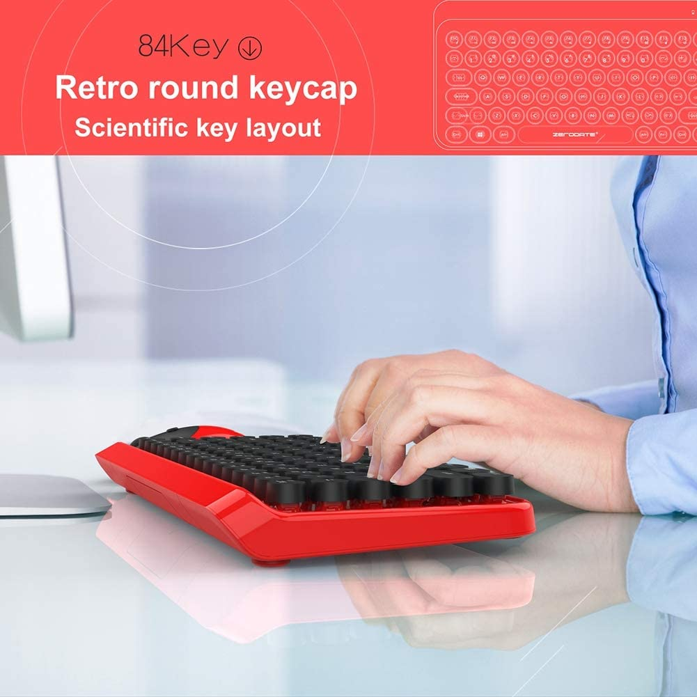 DZ-YJQ Wireless Keyboard and Mouse Combo,Ergonomic Ultra Slim Full Size Wireless Keyboard and Mouse Combo,for Computer,Desktop,PC,Laptop
