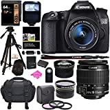 Canon EOS 70D Digital SLR Camera with 18-55mm STM Lens, Polaroid .43x HD Wide Angle Lens, 2.2X HD Telephoto Lens, 32GB and Free Premium Accessory Bundle