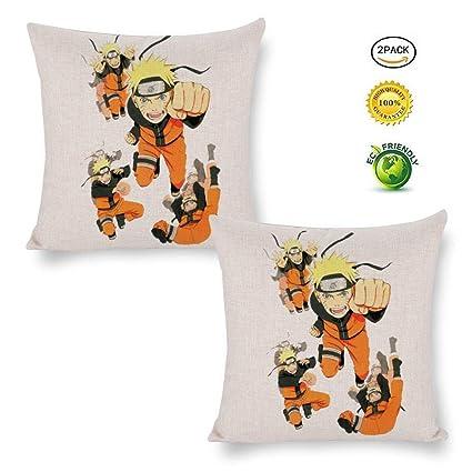 Peachy Amazon Com Parnisha Naruto 2 Pack Cotton And Linen Pillow Machost Co Dining Chair Design Ideas Machostcouk