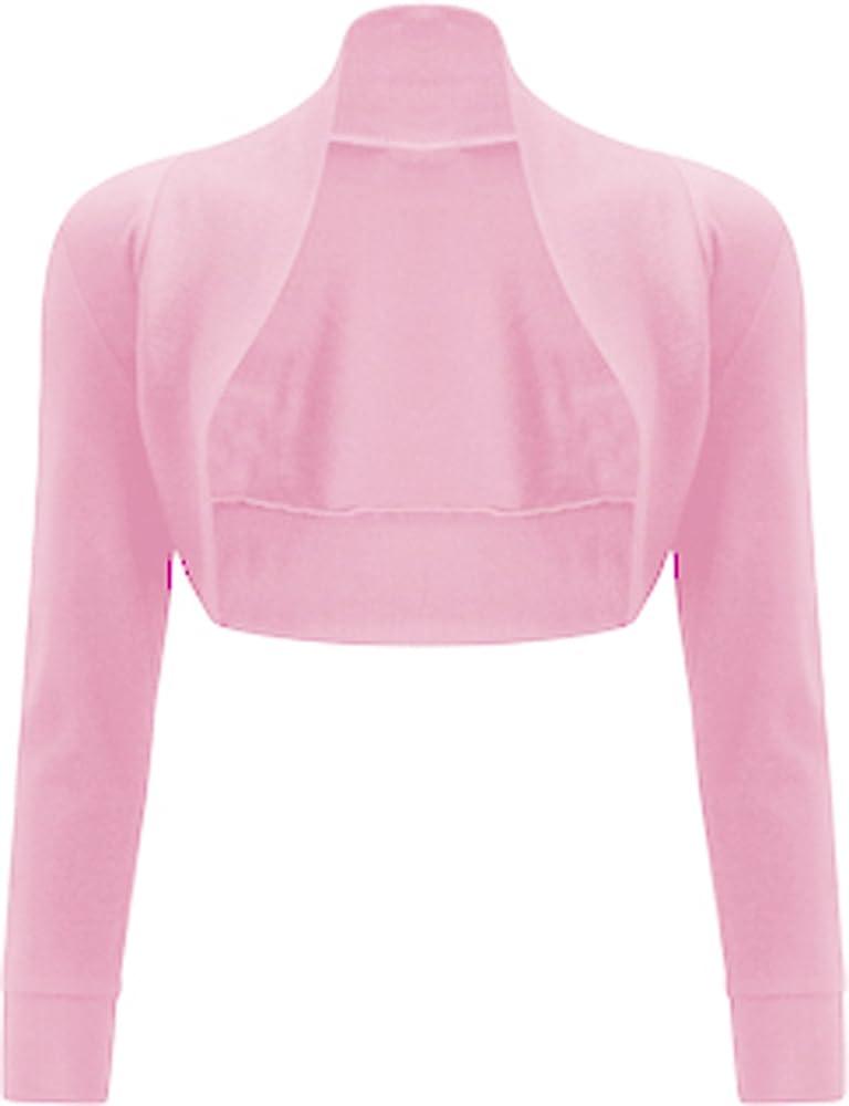 GirlsWalk Womens Long Batwing Sleeves Plain Front Open Bolero Shrug Top