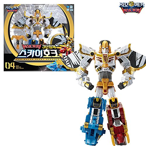 Geo Mecha Beast Guardian Sky Hawk   3 X Transformer Copolymer Robot Korean Toys