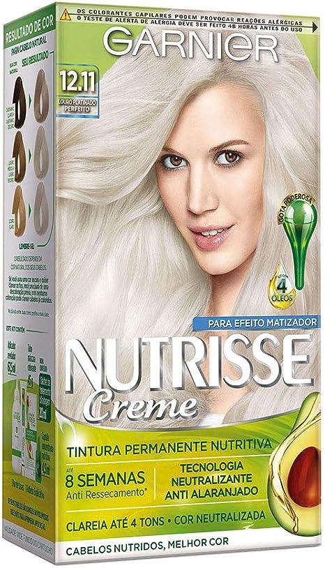 Coloração Nutrisse Creme 12.11 Louro Platinado Perfeito, Garnier