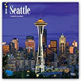 Seattle 2018 12 x 12 Inch Monthly Square Wall Calendar, USA United States of America Washington Pacific West Coast City (Multilingual Edition)