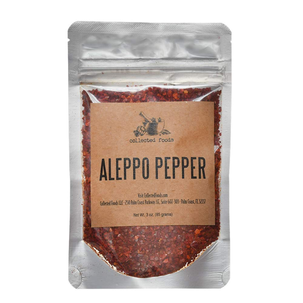 Pure Aleppo Pepper Chili Flakes: Perfect for Middle Eastern and Turkish cooking as Crushed Aleppo Pepper - 3 oz
