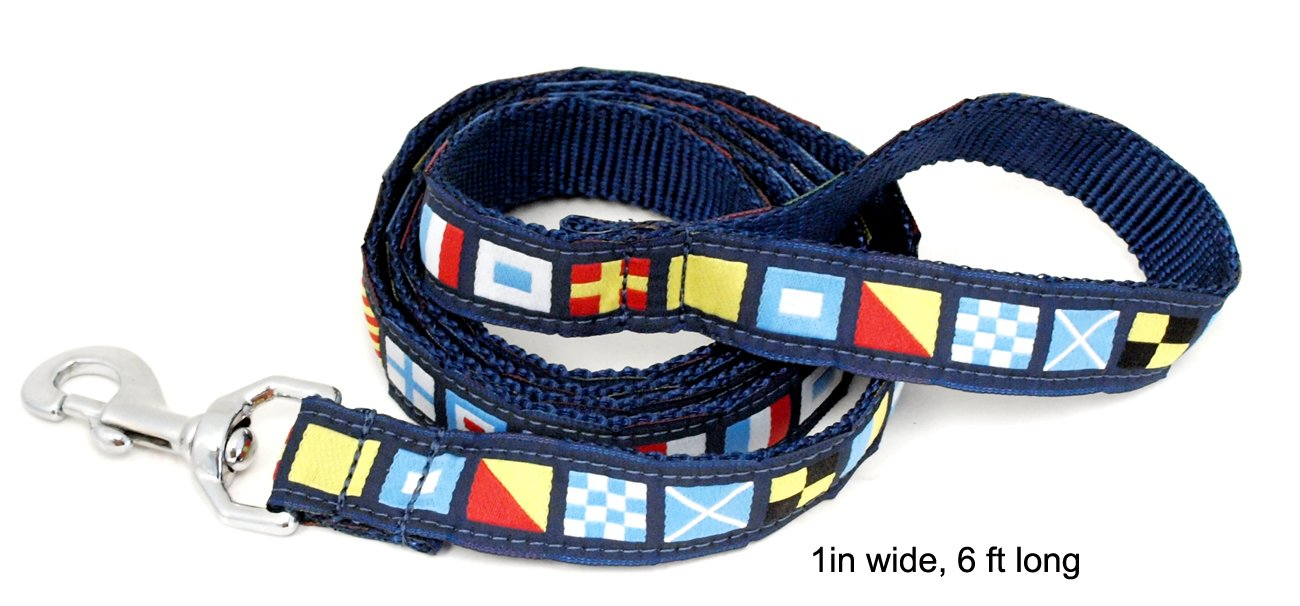 1in wide 6 ft long Nautical Code Flag Dog Leash (1in wide 6 ft long)