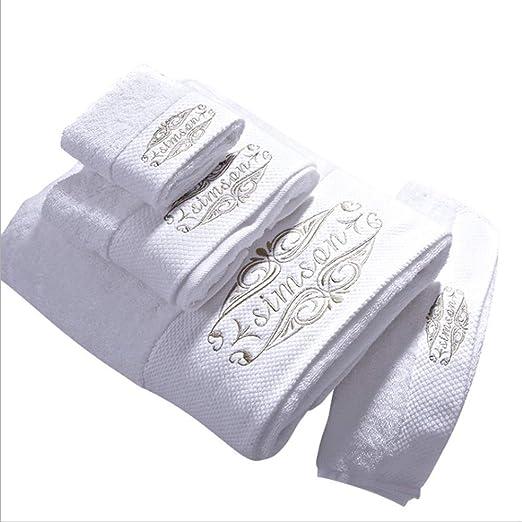 HDLWIS Toallas de baño Blancas, Toalla Absorbente de algodón ...
