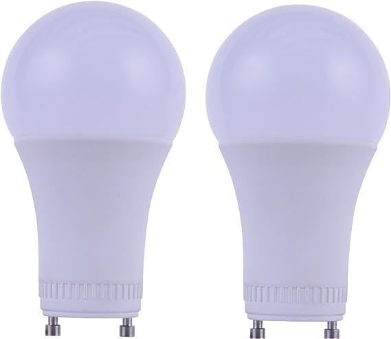 9W Dimmable A19 LED 2700K Warm White 60W Equivalent GU24 Base Light Bulb