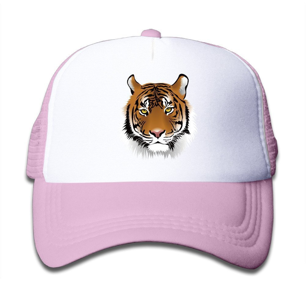 Children Tiger Cool Animal Trucker Hat Boys Girls Mesh Hat