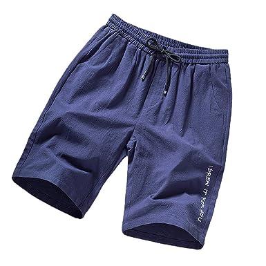 VPASS Pantalones Hombre Verano Casual Moda Pantalones Tallas Grandes Deportivos Color s/ólido Suelto Jogging Pantalon Fitness Gym Cortos Pantalones Pantalones de Playa Ba/ñador Ch/ándal de Hombres