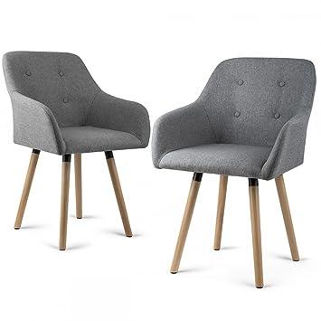 HomeKraft Inge - Juego de 2 sillones de salón o de ...