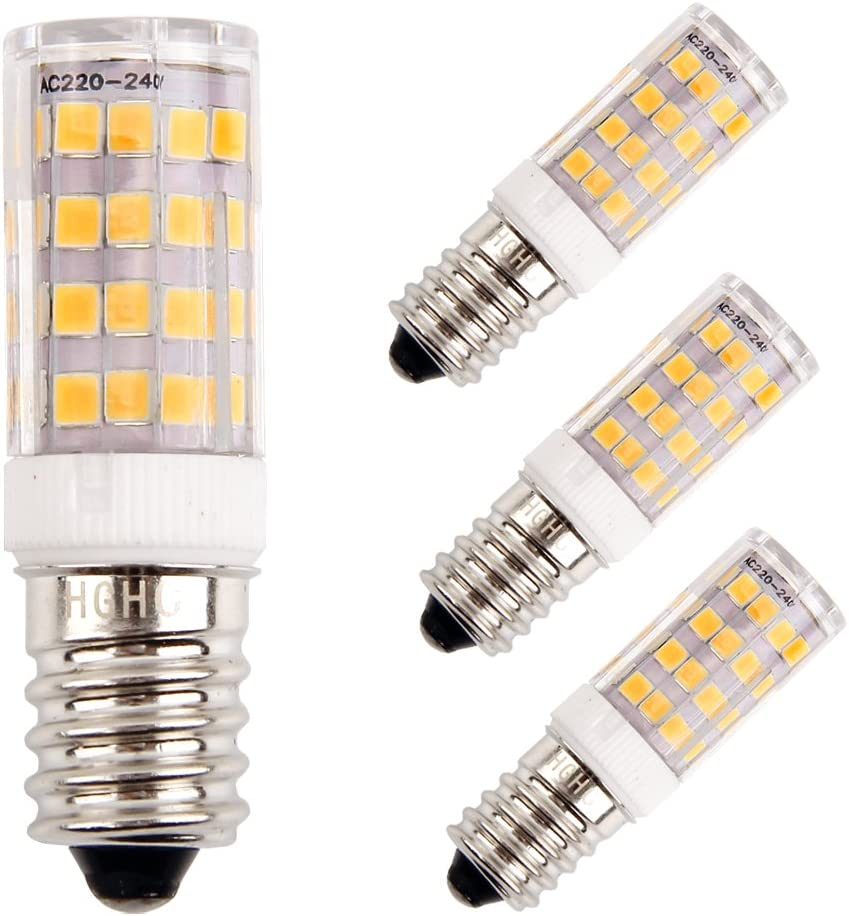 E14 LED Maíz Bombillas 5W AC220V 400LM, 35W incandescente bombillas equivalentes, Blanco Cálido 3000K Candelabro Bombillas LED Lámpara, 4 Piezas