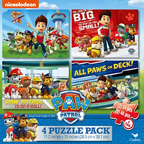 Cardinal Industries Paw Patrol 4-Pack of Puzzles ()