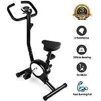 Cyclette da Allenamento Home Trainer Bicicletta da Fitness Bike Cyclette Macchine per training aerobico Fitness e palestra Sport e tempo libero LCD e sensori di polso cardio-machine, 100 kg Capacità