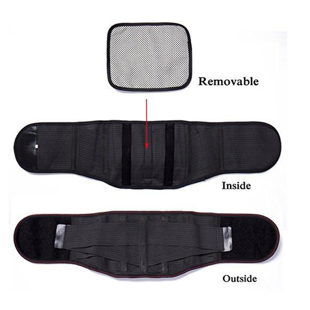 ZSZBACE Double Pull Fastener Lumbar Lower Back Support Brace Belt for Pain Relif,Heavy Lifting,Sciatica,Adjustable (XXL) by ZSZBACE (Image #3)