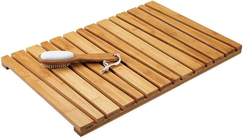 mDesign Tapis en Bambou antidérapant pour intérieur ou ...