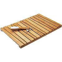 mDesign Alfombra de bambú Antideslizante para Uso en