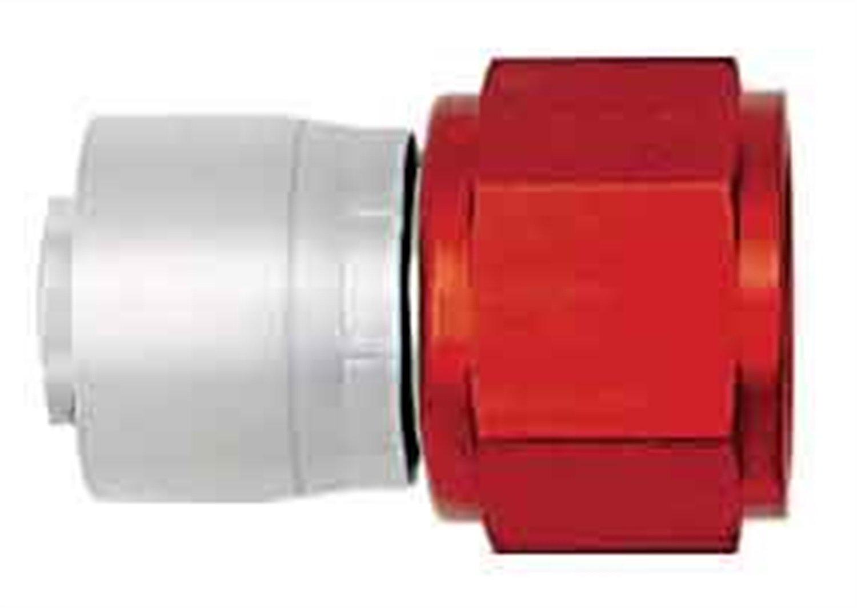 Aeroquip FBM4213 AQP Hose Fitting -08AN Hose Size Straight Swivel Lightweight Red/Silver Bulk Packaged AQP Hose Fitting