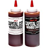 Capital City Mambo Sauce - Variety 2-pack of Sweet Hot and Mild Mambo Sauce - Washington DC Wing Sauces (Two 12 oz…