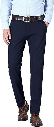 Plaid/&Plain Men/'s Slim Fit Dress Pants Stretch Dress Pants