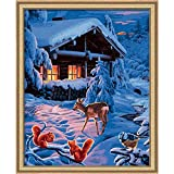 Norris Paint by#S: Romantic Winter Night Paint by#