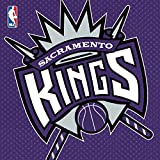 """Sports and Tailgating NBA Party Sacramento Kings Luncheon Napkins Tableware, Paper, 6"""" x 6"""", Pack of 16"""