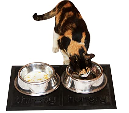 Pet Supplies Beautiful Cat Dish Bowl Set Hungry And Thirsty Cat Supplies