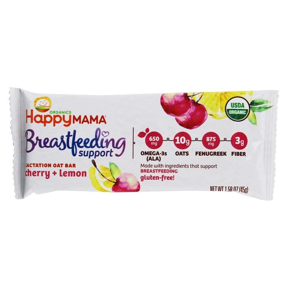 Happy Family - Happy Mama Organic Breastfeeding Support Lactation Oat Bar Cherry + Lemon - 15 Bars by Happy Family (Image #4)