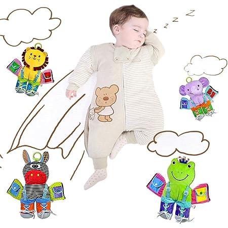 HAMKAW Toddler Que Aprende A Usar Juguetes con Cremallera, Botón A ...