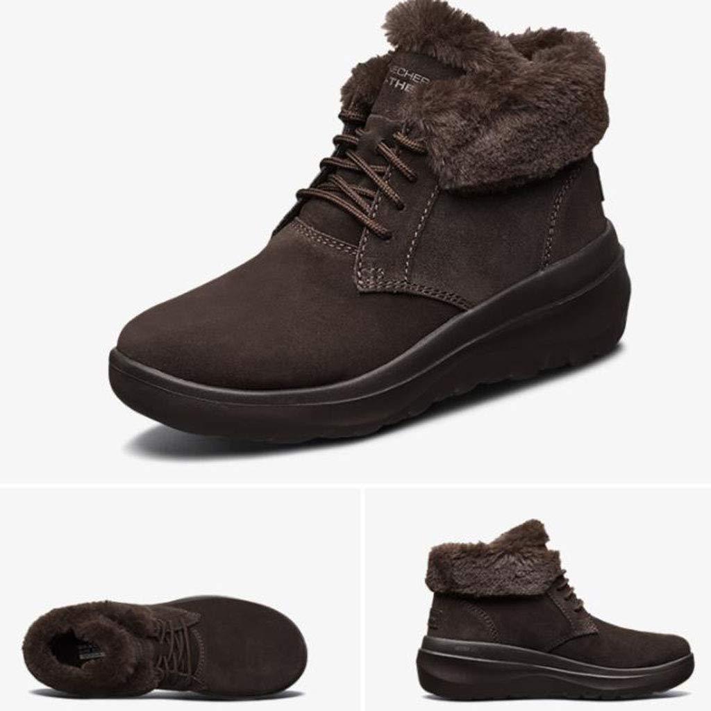 Chaussures de Marche Chaussures pour Femmes Bottines Mode en Velours Velours Velours Bottes de Neige légères Velours Chauds Ralenti Chantiers et Industrie (Color : Brown, Size : 38)B07JWFZ1H1Parent 32b8d1