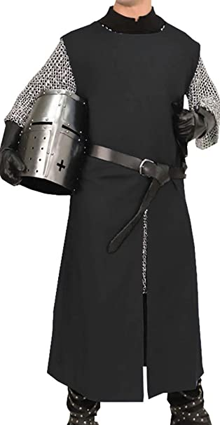 Amazon.com: Medieval Knight Viking Pirate Long Surcoat ...