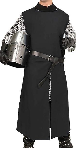 Amazon.com: Medieval Knight Viking Pirate Long Surcoat ...