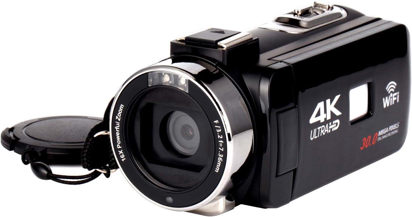 WANGOFUN Videocámara 4K, cámara de Video Vlogging con micrófono ...