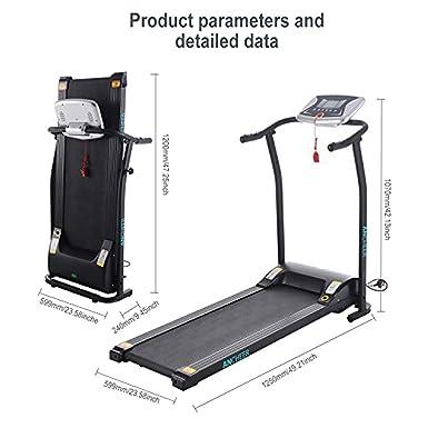 mini tapis roulant pliable elctrique tapis course chambrebureau appareil de fitness orangeblanc - Tapis Roulant