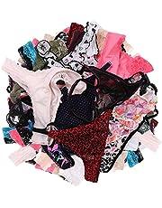 UWOCEKA Sexy Thongs for Women,Varity of T-Backs Underwear Pack G Strings Panties