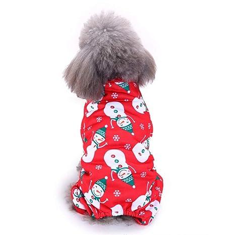 BAONUAN Ropa para Mascotas Papá Noel Ropa para Perros Lindo ...
