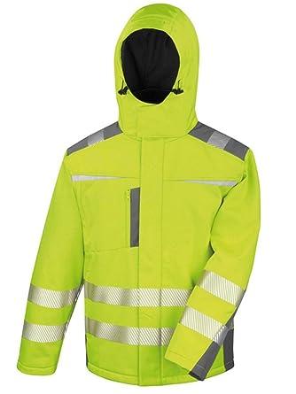 Veste de Chantier Fluo avec Capuche: : Vêtements et