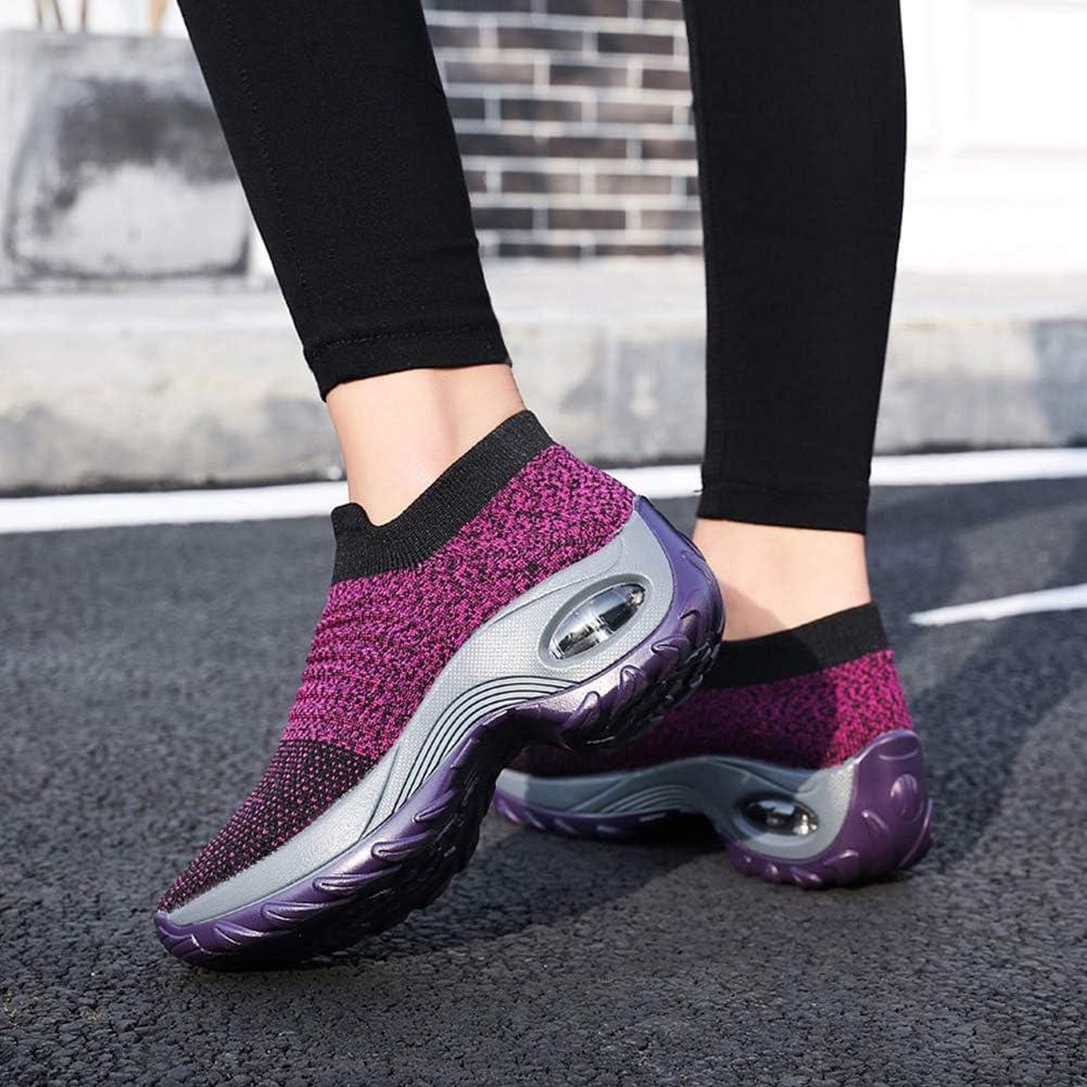| Women's Walking Shoes Sock Sneakers - Mesh Slip On Air Cushion Lady Girls Modern Jazz Dance Easy Shoes Platform Loafers | Walking