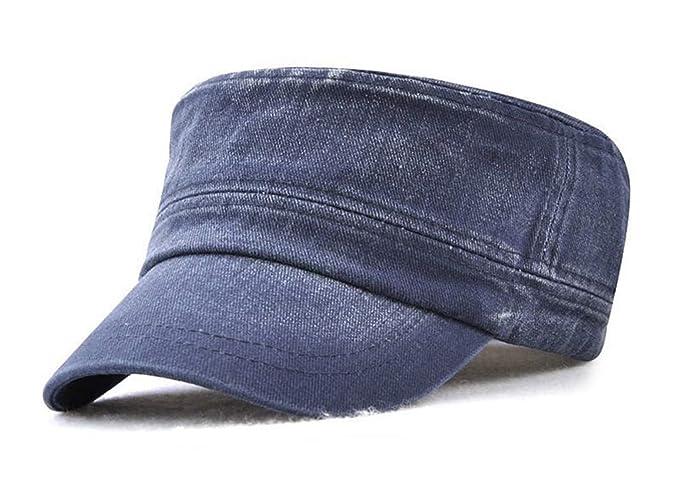 Hombre Béisbol Gorra Militares Senderismo Running Ajustable Sol Sombreros (Azul)