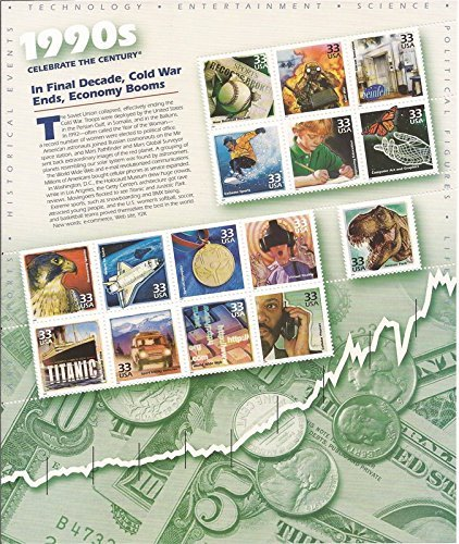 Celebrate the Century 1990s - Sheet of Fifteen 33 Cent Stamps Scott 3191 by USPS