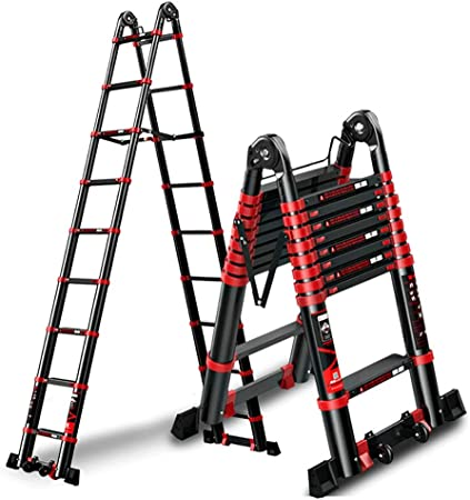 Escaleras plegables aluminio Escalera Telescópica Multifunción Negra: Escalera Plegable De Aleación De Aluminio, Sin Escaleras Grandes De Ingeniería De Ascensores Deslizantes taburete escalera plegabl: Amazon.es: Hogar